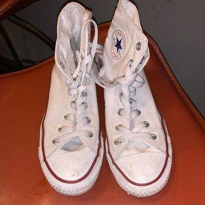 All white converse